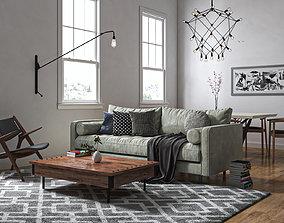 living room-kitchen 3D