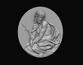 Pensive Christ Medallion 3D printable model