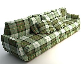 3D model Scottish Plaid Sofa