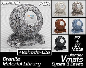 VMATS Granite Material Library for Blender Cycles and 3D