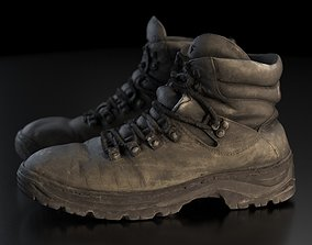 Old winter boots scanned 8k 3D