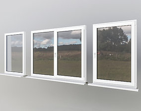 House windows 3D asset game-ready