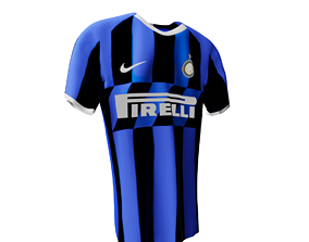 3D model game-ready Internazionale Milano Home Jersey