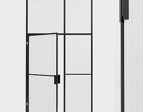 Glass partition door 97 3D asset
