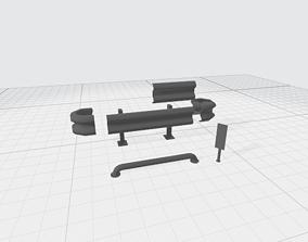 3D model a guardrail