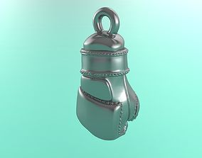 Jewelry 3D printable model of MMA gloves for pendant or