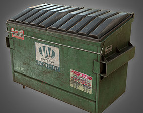 3D asset Dumpster 01 - PBR Game Ready