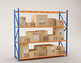 Warehouse Rack Storage 02 3D model