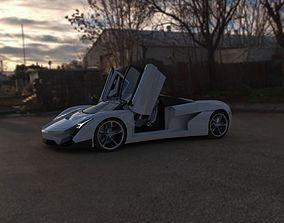 Concept Supercar Azion 2 3D