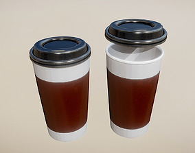 3D asset Coffee To Go Cup - Gameready - PBR Textures