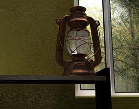 3D model African Kerosene Lamp