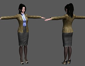 3D model Young Business Women in Asia
