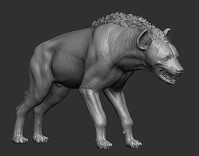 portrait 3D print model hyena