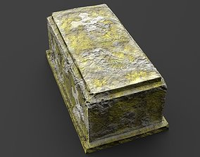 Concrete Moss Grave Weather Hardened Nameless 3D asset 1