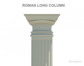 3D model Roman long column