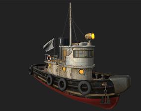 3D model Old Tug Boat
