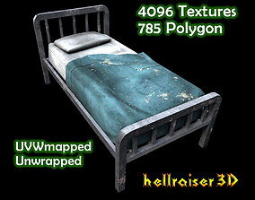 Old Bed - Textured 3D asset