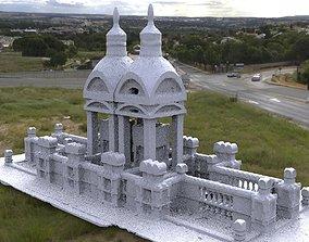 Victorian architecture Ornate grave 2 3D