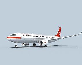 Bombardier CS100 PrivatAir 3D model