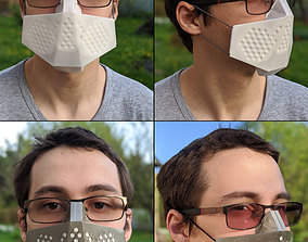 Origami simple 3D printing mask