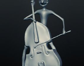 Jazz Double Bass Player 3D printable model