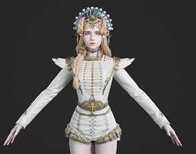 3D asset Women wear of the Middle Ages European Lady 1