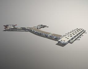 Airport Terminal ESSA Terminal5 Stockholm Arlanda 3D asset