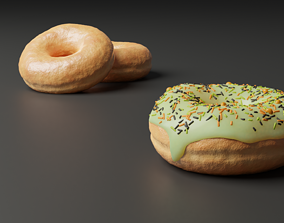 3D model Several Yummy Donuts