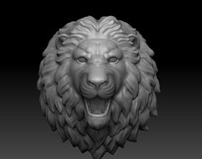 stone lion head 3D printable model