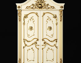 3D model Luxury Classic baroque carved door