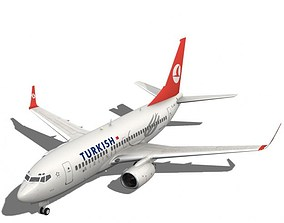 3D model Turkish Airlines Boeing 737-700w