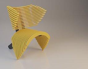 3D model Parametric Plastic Chair