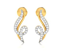 Women earrings 3dm render detail jwelery