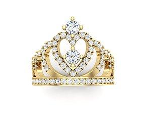 Crown ring 3D printable model princesa