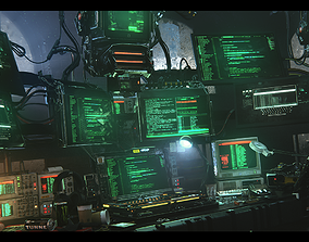 3D Hardcoding Cinema4d and Redshift Scene file cyberpunk