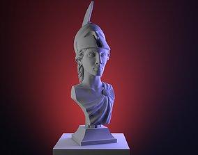 Hi-poly ancient Athena bust Greek 3D printable model 1