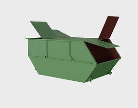 3D model Steel dumpster 8 cubic meters with 4 lids