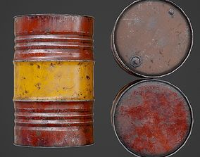 3D model Oil barrel
