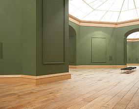 3D model Art Gallery Green