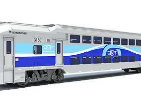 Exo Train Passenger Car transit 3D