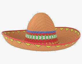 Sombrero Mexican hat 3D