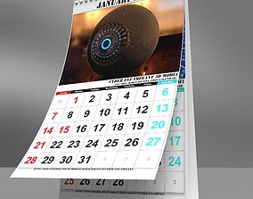 3D model Desk Calendar 2018