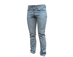 Blue Jeans Pants 3D asset