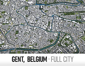 Gent - city and surroundings 3D model