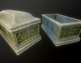 3D model Mossy Stone Chest