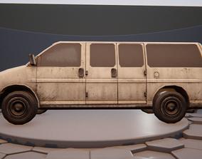 3D asset Van Vehicle Rigged