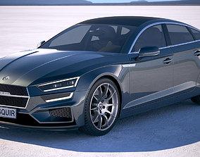 3D model Generic Sedan 2017 v2