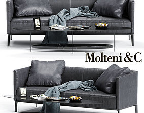 Molteni CAMDEN Low Backrest Sofa 3D model