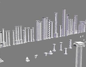 Classic columns collection 3D model