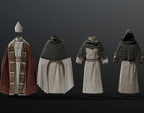 MEDIEVAL Religious character 3D model